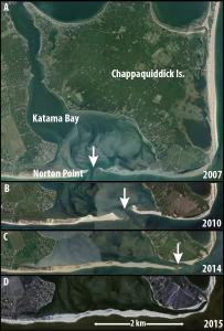 Katama inlet migration