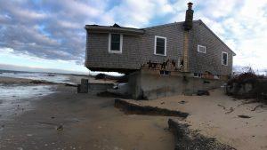 Beachfront house eroded
