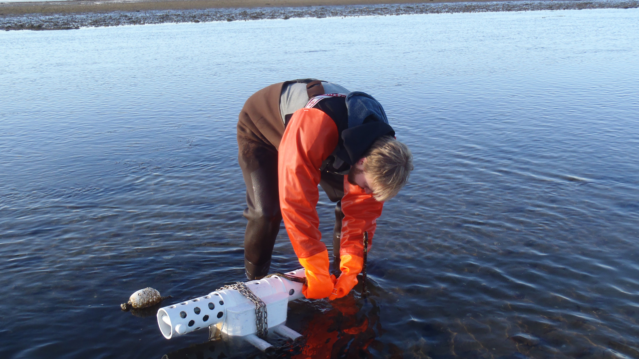Josh with YSI water quality monitor