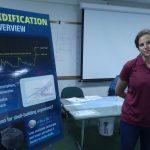Jennie Rheuban explaining the basics of ocean acidification