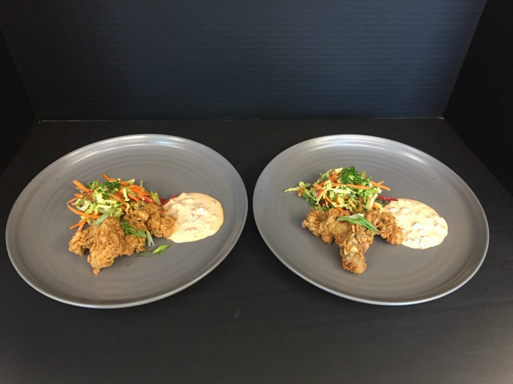 Chef Daniel Ferrare's Southern fried oysters with crunchy slaw