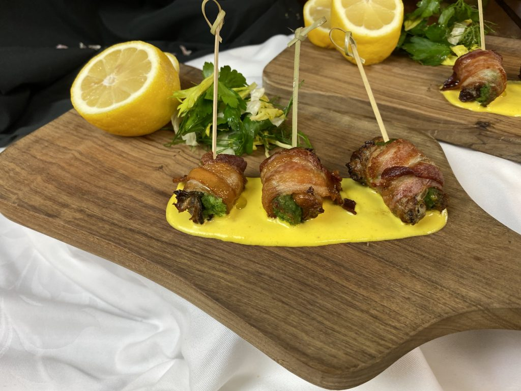 Chef Eric Pezzulo's bacon-wrapped oysters rockefeller
