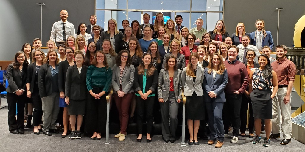 Photo: The 2020 Knauss fellows pose at the end of their Placement Week (Fall 2019).